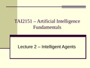 16901_Lecture02 Intelligent Agents