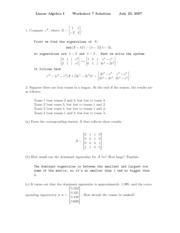 worksheet solution 7