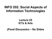 INFO202-S15-Lecture25-ICTs+Arts
