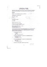 Test 5 Projectile Motion