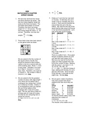 Chapter ~ 2006 Solutions » MathCounts