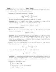 Exam 2 Solution on Real Analysis Fall 2014