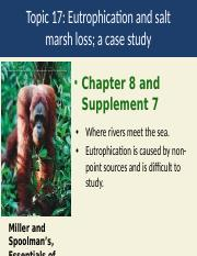 Topic 16a Eutrophication and marsh loss.pptx