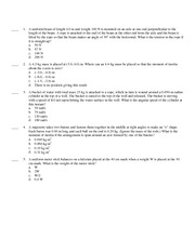 PHY2053 Physics 1, Test 2 Exam With Answers Version C