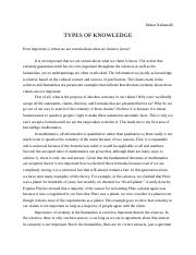 ToK Types of Knowledge.docx