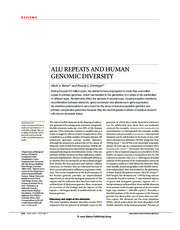 Batzer and Deininger 2002 Nature Reviews Genetics