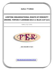 limiting organisational right of minority
