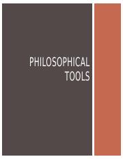 Philosophical Tools PPT