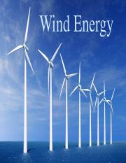 Lecture 3 - Wind Energy