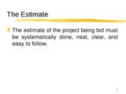 The Estimate