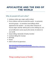 APOCALYPSE AND THE END OF THE WORLD.docx