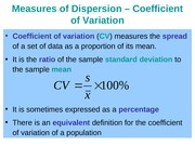 Coefficient of Variation Skewness Kurtosis