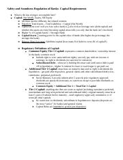 Banking.Capital Requirement Outline