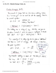 Electric Energy Units Notes