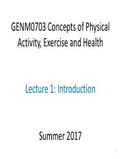 GENM0703 Summer 2017 L1 Intro L2 Evidence