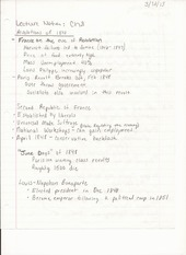 Humanities Lecture Notes Chapter 8 Revolutions of 1848