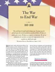 chapter 31 the war to end war