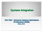 EGN_5623 Systems Integration 10-29-11