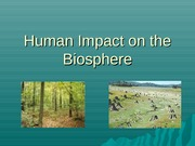 Lecture - Human Impact(Environment)