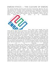 ENRON ARTICLE OF ETHICS&CORPORATE GOVERNANCE.docx