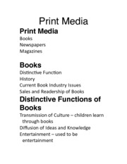 Day 3 Print Media UBLearns EXAM 1