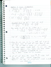 Notes on addition and subtraction of Matrices