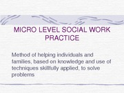 Introduction Micro Practice