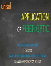 APPLICATION OF FIBER OPTIC