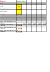 Old Excel Spreadsheets- Completed