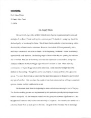 COMM 3135 - 12 Angry Men paper