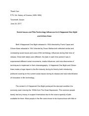 Social Issues and Film-Technology Influences for It Happened One Night and Citizen Kane.pdf