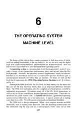 Ch 6 Operating System Machine Level