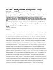 Graded Assignment Moving Toward Change.docx