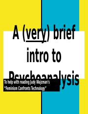A (very) brief intro to Psychoanalysis.pptx