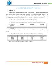 [Additional problems] - AHP.pdf