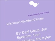 Wisconsin Weather Project