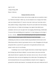College Writing- Olympus Project