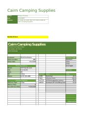 Excel Lab (Cairn Camping) - Cairn Camping Supplies Author