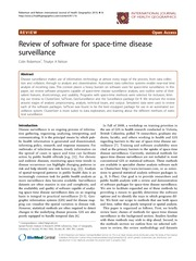 Software Review Space Time Surveillance