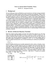 Notes on Calculus-Based Probability Theory