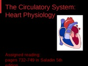 Circulatory System - Heart Physiology