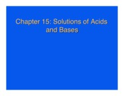 Chapter 15. Acids and Bases