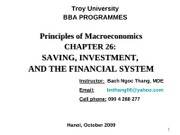 Chap.26_Saving, Investment and the Financial System