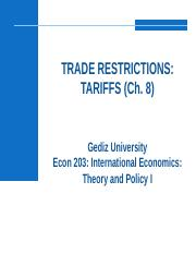 Ch.8_Trade Restrictions - Tariffs.pptx