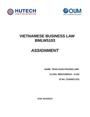 Tran Xuan Phuong Linh - Law Assignment