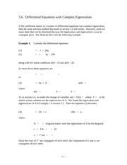Differential Equations with Complex Eigenvalues