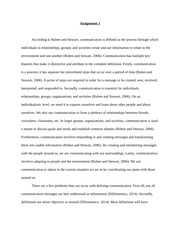 Intro to Com - What is Communication Essay