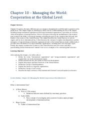 INTL 101 - Chapter 10 Summary & Study Guide.docx