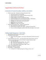 20110701, Final Exam Prep - Suggested Topics to Review - SZ 7-8-2011.docx