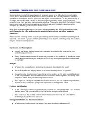 MGMT599_DocSharing_Guidelines_for_Case_Analysis Updated 2-7-12(1).docx